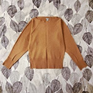 H&M Cozy Tan Wide Neck Sweater